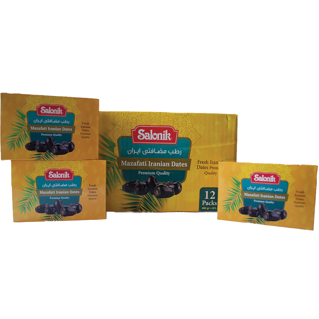 Mazafati Iranian Dates 7 kg (12 boxes of 550 gram)